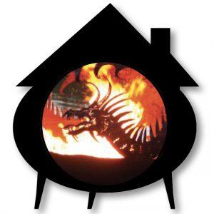cauldron house with dragon fire ball overlaid