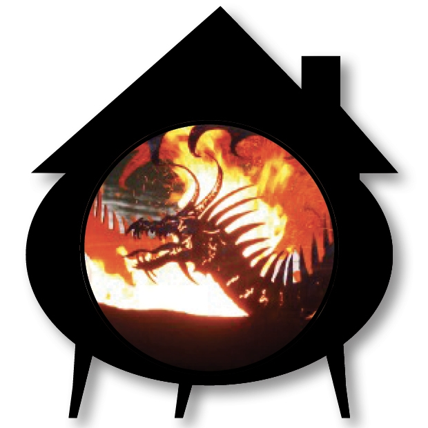 cauldron house with dragon fire ball overlaid