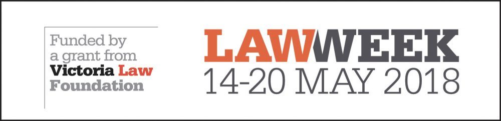 Law Week logo 2018, 14th to 20th May