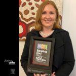 Adele Ferguson with 2020 Davitt Award
