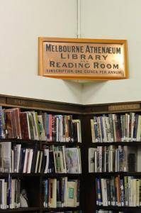 Melbourne Athenaeum sign